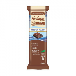 Well Naturally No Sugar Added Milk Chocolate Bar
