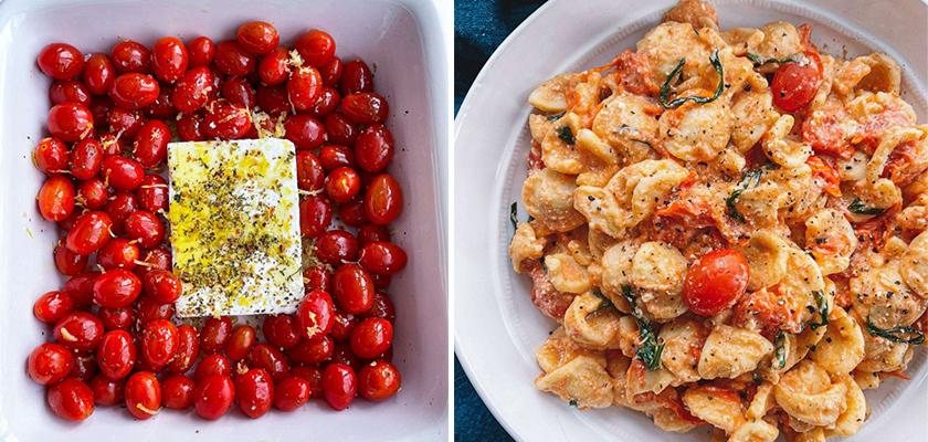 Easy Baked Feta and Tomato Pasta Dish Recipe