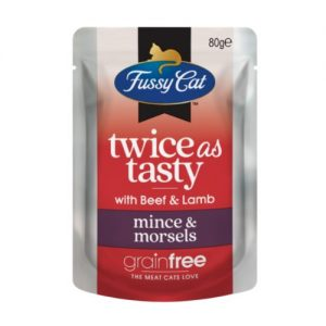 Fussy Cat Twice as Tasty with Beef & Lamb - Mince & Morsels (2)